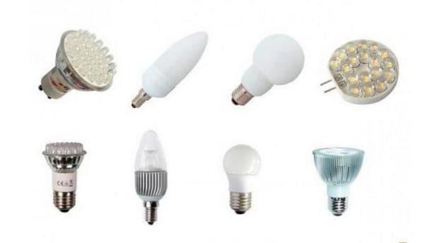 Варианты форм ламп для дома