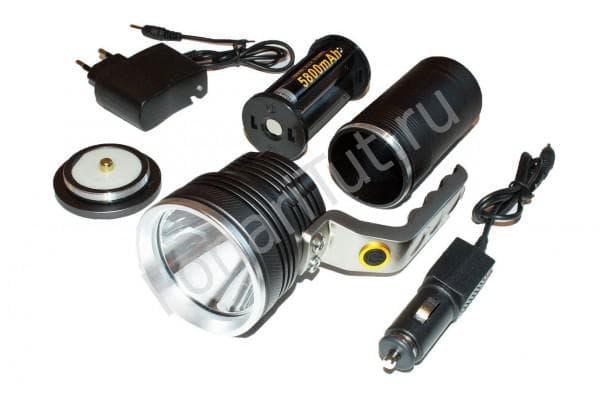 Фото деталей мощного фонаря с диодами