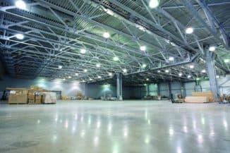 светодиодное производственное помещение