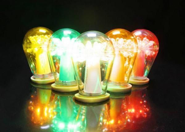 Разноцветные диодные лампы