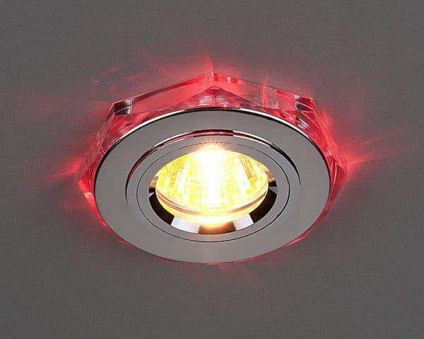 Точечный светильник с разноцветными диодными лампами