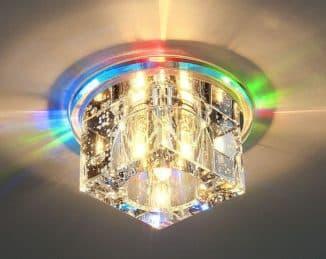 Точечный квадратный светильник встроенный