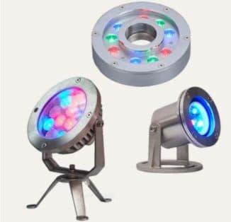 Разноцветные LED прожекторы для декоративной подсветки