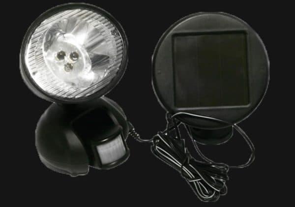 Круглый фонарь с прибором для фиксации движения