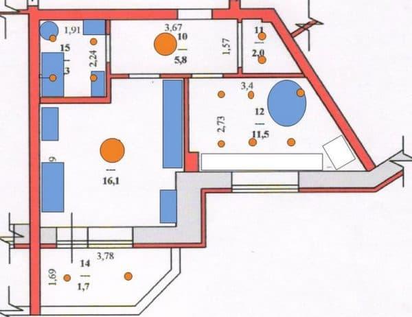 Проект освещения для квартиры