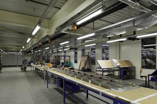 Подбор люминесцентных ламп для производственного помещения
