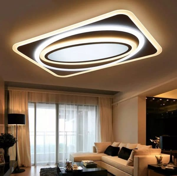 Современная люстра для гостиной с низким потолком