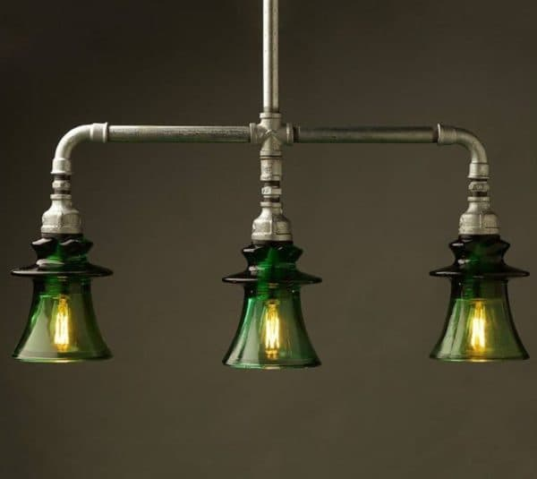Лампа в стиле стимпанк с лампочками Эдисона