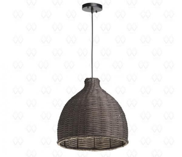 Плетеный светильник-подвес