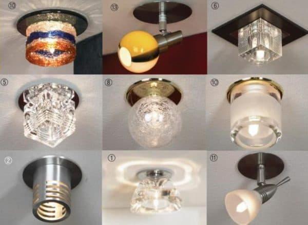 Фото осветительных приборов для гипсокартона