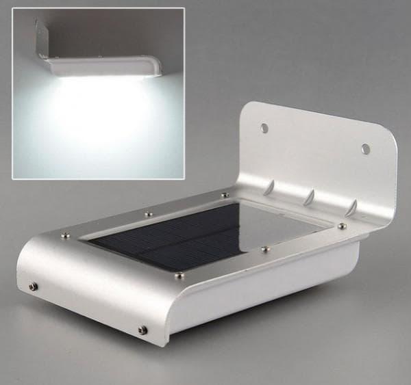 Прямоугольный фонарь с солнечной батарей и индикатором движения