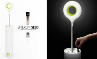 Лампа настольная на батарейках