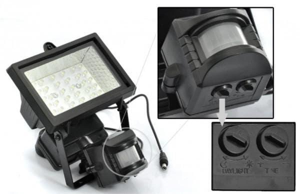 LED фонарь с датчиком движения