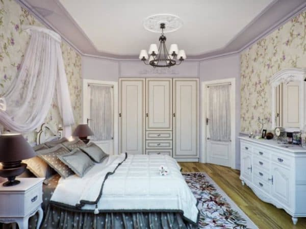 Люстра в стиле прованс для спальни