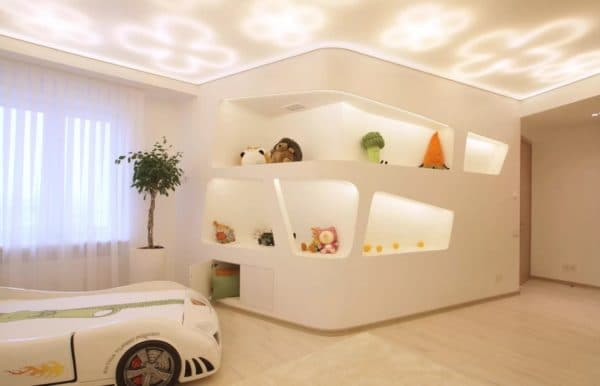 Дизайнерское освещение в детской комнате